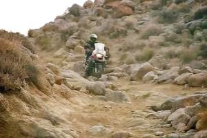 Challenging terrain riding through Death Valley