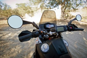 Double take folding dual sport mirrors
