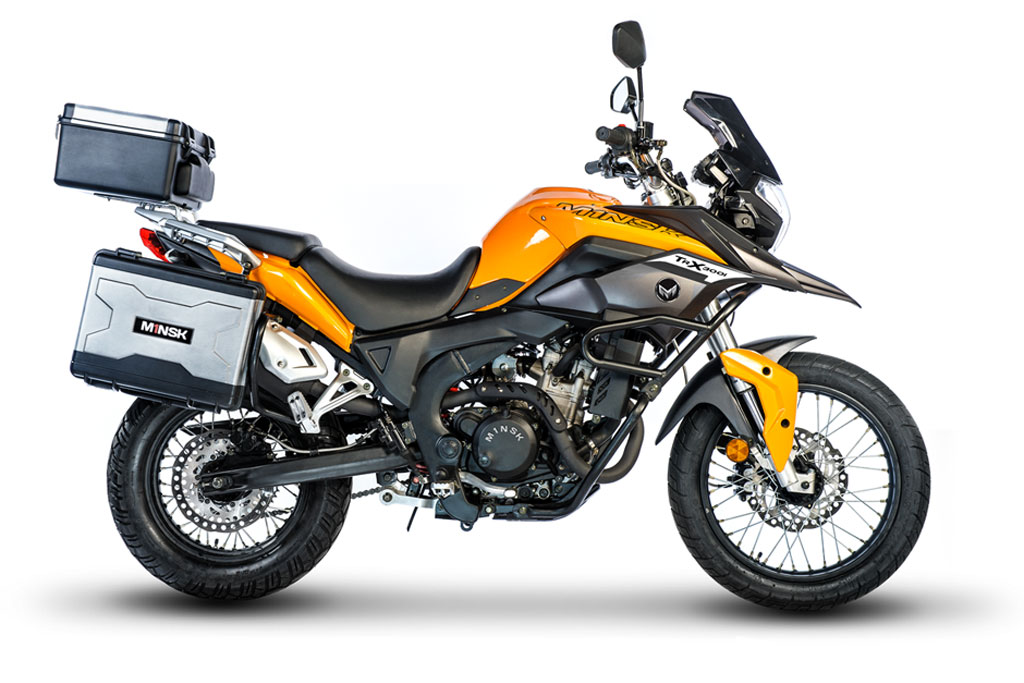 Close-Up Look of the CSC Cyclone RX-3 250cc Adventure Bike