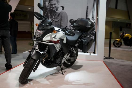 Honda CB500X at the Long Beach IMS