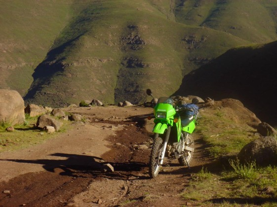 KLR motorcycle touring lesotho South Africa