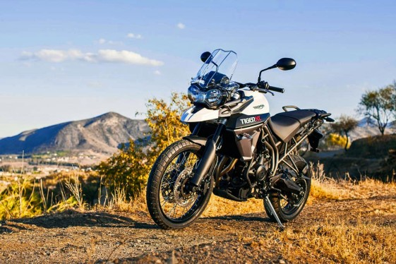 Triumph Tiger 800 XC white mountaintop