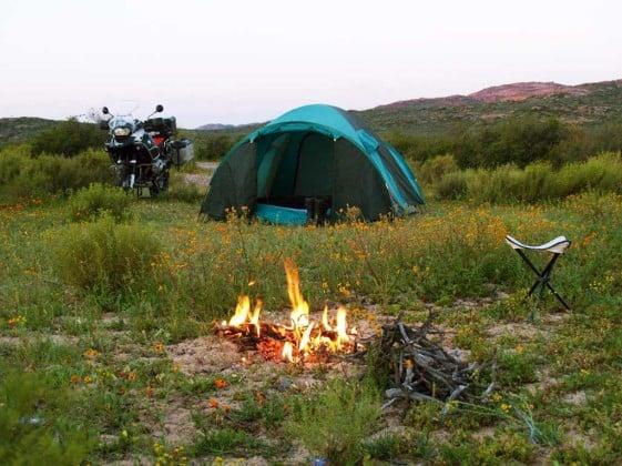 Motorcycle camping South Africa Tankwa