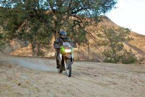 Blasting through the sandpit.