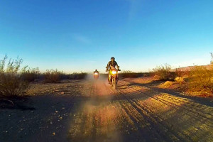 riding the la barstow to vegas dual sport ride