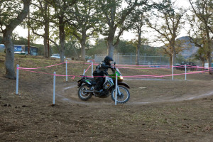off-camber ribbon course turn