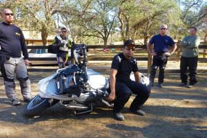 lifting a 600 lb. adventure bike.
