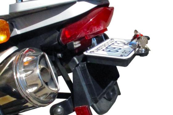 Secret stash box license plate storage