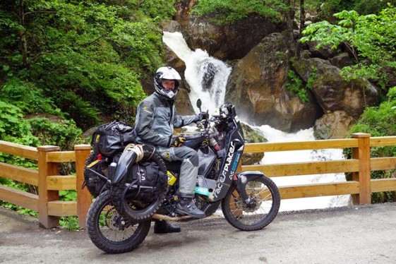 KTM 690 Rally Adventure Bike in travel mode
