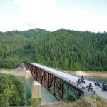 Bridge crossing on the IDBDR Idaho Backcountry Discovery Route