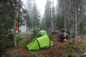 Wilderness camping on the IDBDR Idaho Backcountry Discovery Route