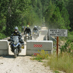 Motorcycles only bridge on the IDBDR Idaho Backcountry Discovery Route