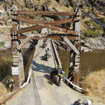 Suspension bridge on the IDBDR Idaho Backcountry Discovery Route