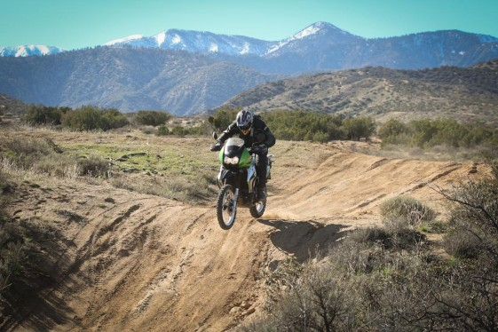 jumping after the KLR 650 mods