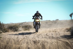Kawasaki KLR 650 through whoops