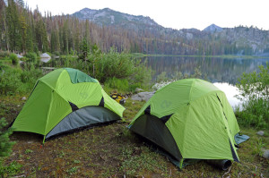 Lakeside camping in Idaho