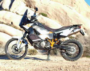 2012 KTM 990 Adventure R suspension test