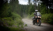 Moto Guzzi Stelvio rider at the Touratech Rally