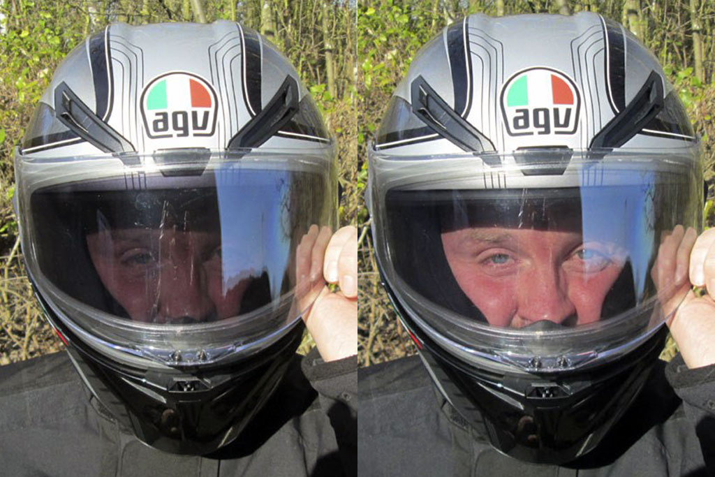 New AGV LCD tinted visor