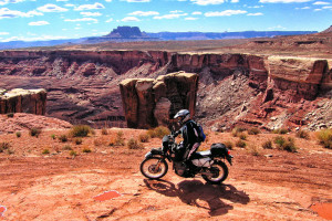 Riding moab cliffs survival situation