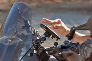 universal motorcycle handlebar mount iphone