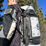 Giant Loop Columbia Dry Bag used as a backpack