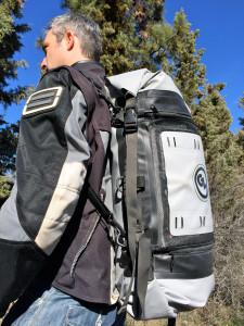 Giant Loop Columbia Dry Bag used as a backpack