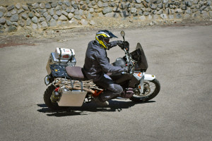 Making a supply run motorcycle panniers.