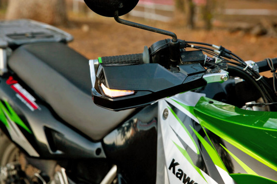 KLR 650 handguards with blinkers