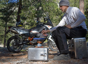 motorcycle panniers cooking