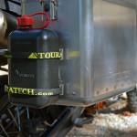motorcycle panniers spare fuel bottle