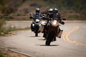 Testing KTM, BMW and Yamaha motorcycles