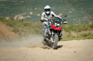 BMW r1200gs riding in sand