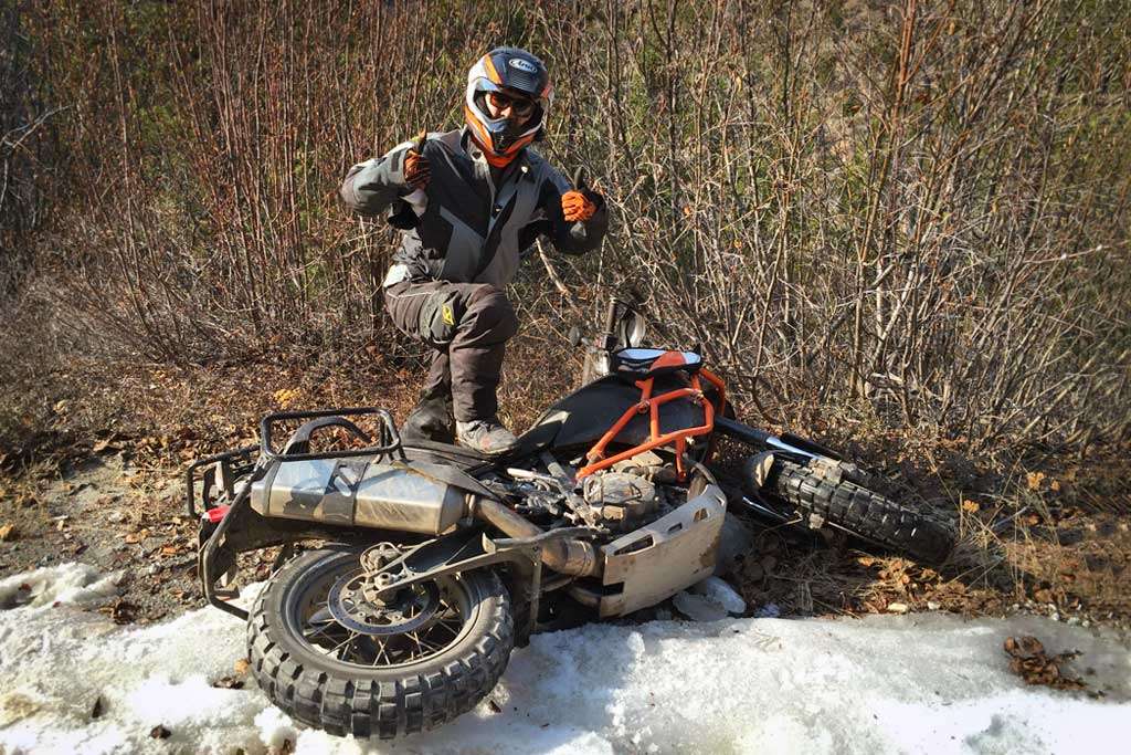Quick Tips  How To Pick Up A Dropped Adventure Motorcycle