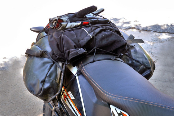 pack light for a motorcycle trip