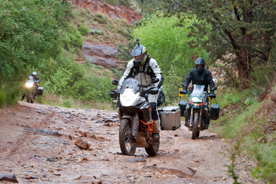 Riding in bad weather dual sport gloves