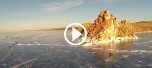Ice Run Adventurists Lake Baikal