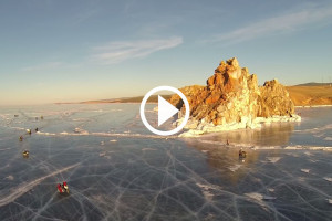Ice Run Adventurists Lake Baikal