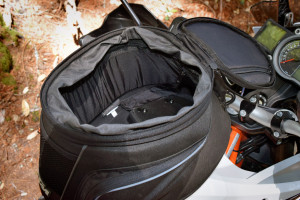 KTM tank bag roomy interior