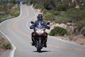 Riding with touratech helmet in street mode