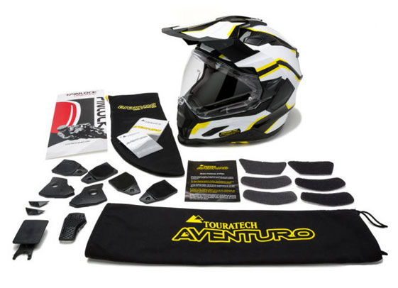 touratech helmet what's included