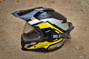 touratech helmet with quick straps installed