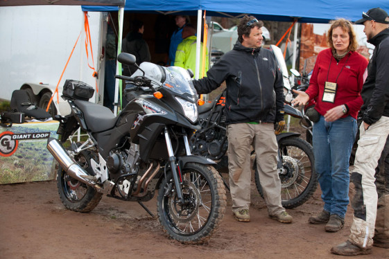 Jenifer Morgan demonstrates Rally Raid CB500X off-road kit