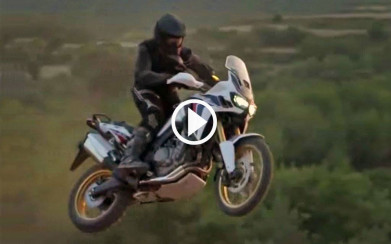New Africa Twin video - CRF1000L being tested off-road.