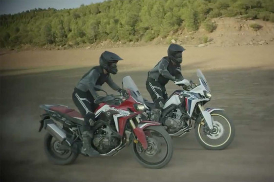 New Africa Twin in red and white color schemes.