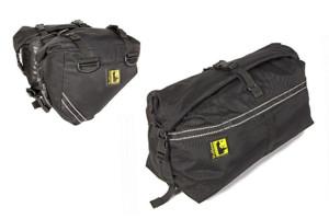 Wolfman Enduro Ultralight top duffel bag and saddlebags