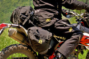 Wolfman Enduro UltraLite top bag and saddlebags