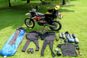 motorcycle camping ultralite packing