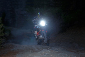 Riding at fast with LED Headlight Bulbs.