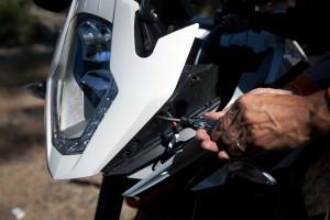 KTM 1190 adventure led headlight bulb installation